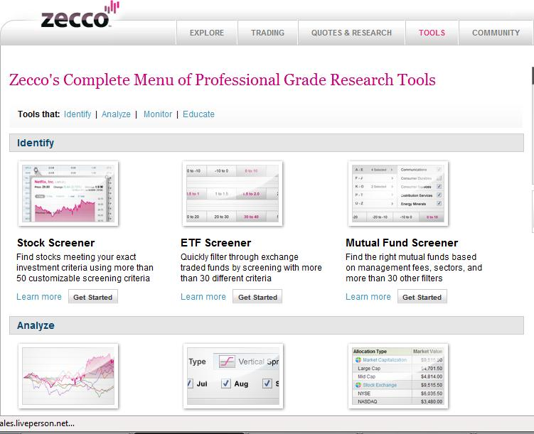 Zecco Online Tools and Free Stock Trades